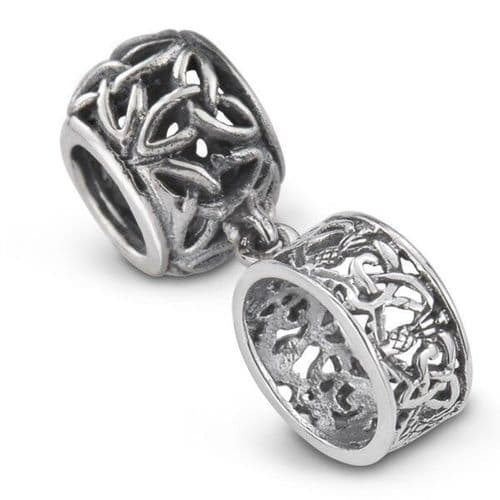 Outlander Inspired Ring Silver Bead Charm